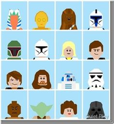 LEGO Star Wars free paper pieced patterns