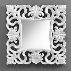 Specchio IVy: Mirror Room, Mirrors, Cold Porcelain Flowers, Decoration, Wood Carving, Antique Furniture, Creations, Antiques, Patterns