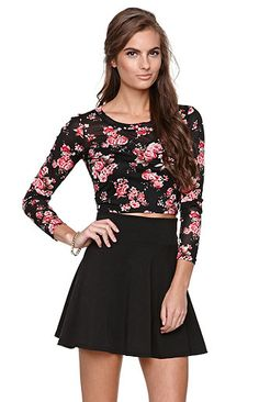 LA Hearts Floral Mesh Cropped Top at PacSun.com