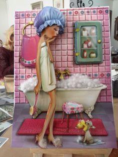 Zeynep's papertole-Sümbül Eldek Decoupage, 3d Cards, 3d Paper, Doll Crafts, Rice Paper, Paper Mache, Paper Dolls, 3 D, Diy And Crafts