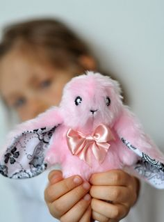 miniature hare 47/ original LELUKO toy/ stuffed by LelukoToys, $29.00