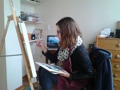 ¡qué concentrada!... Mariana Córdova...