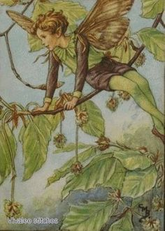 Fairy on the branch 7 Counted cross stitch pattern pdf