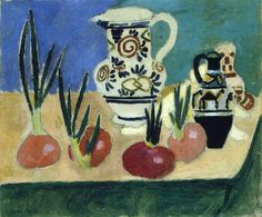 "Henri Matisse ""The Red Onions"" (1906) oil on canvas."