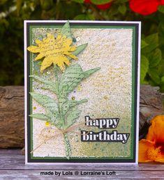 Simon Says: Stamp It - Simon Monday Challenge Blog Birthday Puns, Happy Birthday, December 12, Artist Trading Cards, Handmade Birthday Cards, Simon Says Stamp, Mixed Media Canvas, Embossing Folder, Tim Holtz