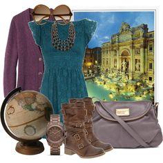 I Want to Travel the World, created by skybluchik89.polyvore.com