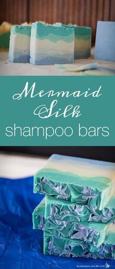 Mermaid Silk Shampoo Bars                                                                                                                                                      More #homemadesoap