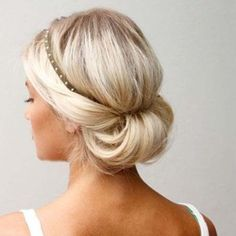 Best Womens Hairstyles For Fine Hair – HerHairdos Holiday Hairstyles, Twist Hairstyles, Headband Hairstyles, Vintage Hairstyles, Teenage Hairstyles, Updo Hairstyle, Prom Hairstyles, Chignon Simple, Pelo Vintage