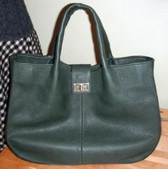 Tod's inspired green leather bag (#4)