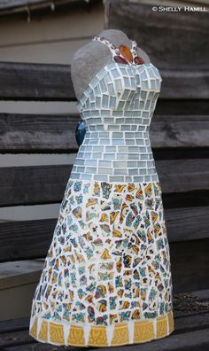 International mosaic artist specializing in mosaic dress sculptures and mosaic portraits. Sculptures For Sale, Cabo, Mosaic, Tile, Mexico, Portrait, Gallery, Artist, Inspiration