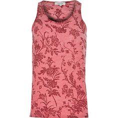 Red vintage floral print vest £18 #RImenswear