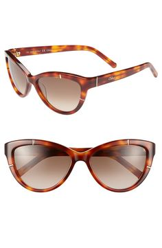 Yes to these light havana Chloé sunglasses!