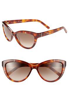 Yes to these light havana Chloé sunglasses!