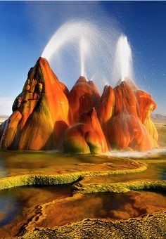 #Fly_Geyser #Nevada #USA http://en.directrooms.com/hotels/country/10-166/