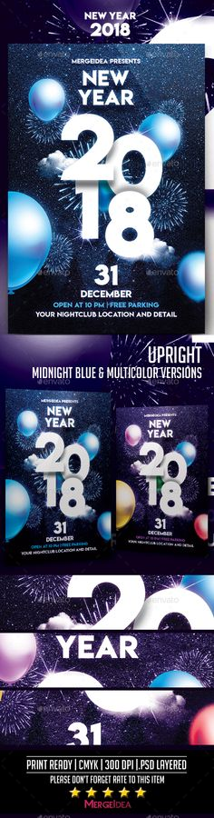 Christmas New Year Party Flyer Party flyer, Flyer template and - new year poster template