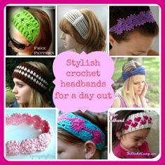 Stylish #crochet headbands for a day out #freecrochetpattern
