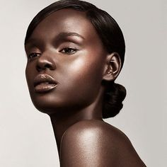 Duckie Thot Shines for Fenty Beauty. Makeup. Model. Black ...