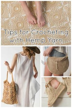 Natural-colored plant fibers are all the rage in crochet accessories and crochet home décor this summer. While these natural fibers produce a fantastic finished project, they're not quite as soft as the wools and cottons we're used to sliding through our fingers. If working with hemp yarn and other plant fibers is a trend your dying to tackle, read on for expert tips from our designers from this issue!