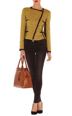 Sale Jackets Coats | Yellow Cotton tweed item jacket |