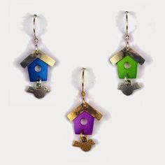 Birdhouse Earrings - Joseph Brinton Jewelry | Touchstone Gallery
