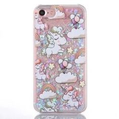 iphone 7 cartoon liquid glitter case,GreenDimension Shinny Bling Stars Quicksand Waterfall Premium Slim Hard PC Cover Soft TPU Silicone Transparent Bumper Skin For Apple iPhone 7 Inch - Unicorn Iphone 5c, Apple Iphone, Cases Iphone 6, Coque Iphone 6, Buy Iphone, Unicorn And Glitter, Glitter Stars, Glitter Gif, Glitter Lipstick