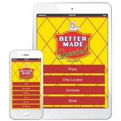 Find YOUR Favorite Snacks with the #BetterMade App. Download Now http://bettermadesnackfoods.com/mobile-apps