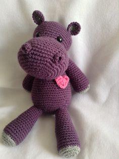 Crocheted Hippo Amigurumi Crochet