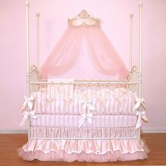 Love the tulle crib skirt