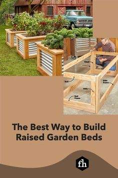 If you've always liked the look of raised garden boxes, now is your chance to finally get out and build them. They provide a rich aesthetic to your yard and ease and convenience when gardening. Wooden Raised Garden Bed, Cheap Raised Garden Beds, Raised Bed Garden Design, Raised Vegetable Gardens, Building Raised Garden Beds, Backyard Projects, Outdoor Projects, Backyard Fences, Diy Projects