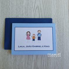 flavoli Papelaria Personalizada: Cartão duplo - Família estilizada Personalized Stationery