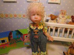 OOAK Dollhouse Miniature Girl Doll * Hannah * by Carol McBride