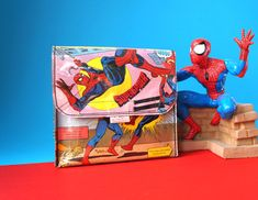 SPIDERMAN & SUPERMAN Handtasche groß Comic upcycling Unikat! PauwPauw Umhängetasche, Tasche Comic Collage Recycling 100% handmade in Berlin von PauwPauw auf Etsy