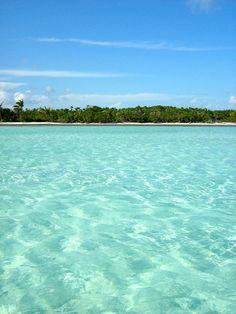 Crystal clear water in Riviera Maya, Mexico, home of Viceroy Riviera Maya.