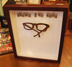 Ticket shadow box. Place all your concert,sporting event or movie ticket stubs inside.