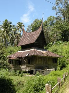 Traditional house, Sumatra, Indonesia