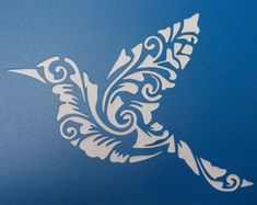 Flourish Stencil 5.5x11.5 by SassyFurnitureDesign on Etsy