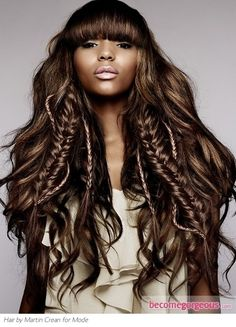 Summer Vacation Hairstyles for Long Hair - Summer is here and you may be already packing for your vacation. Don't forget your style at home: try these gorgeous summer vacation hairstyles for long hair! Afro Hairstyles, Hairstyles With Bangs, Straight Hairstyles, Open Hairstyles, Hairstyles Pictures, Black Hairstyles, Long Length Hair, Long Hair With Bangs, Loose Hair