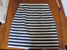 The Crafty Novice: DIY Sew: Striped Pencil Skirt