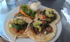 Light, vegan, & fresh: Black Bean Tacos from Kayak Cafe in Savannah, GA.  Review at Steak,Tofu,Love Blog