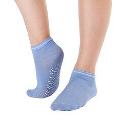 Women's Fitness Pilates Socks Colorful Non Slip Massage Toe Durable Dance Ankle Grip Exercise Printed Letter Socks S4