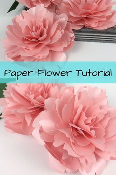 This paper peony would look great in vase. This would be a great paper flower to make with your cric - - A paper peony tutorial that will have you making paper peonies in no time! Each petal is different making this peony look realistic. Paper Flower Centerpieces, Paper Flower Wreaths, How To Make Paper Flowers, Large Paper Flowers, Paper Flowers Wedding, Tissue Paper Flowers, Paper Flower Wall, Giant Paper Flowers, Wedding Paper