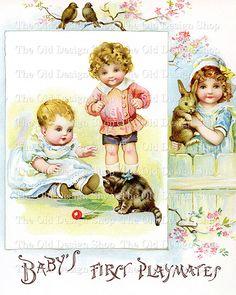Baby Children Pets Vintage Printable Clip Art by TheOldDesignShop Vintage Labels, Vintage Cards, Vintage Images, Clip Art Vintage, Vintage Stationary, Owl Clip Art, Calligraphy Drawing, Funny Design, Funny Art
