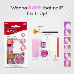 Wanna save your broken nail? Restore it with our NEW Fix It Up Silk Wrap Repair kit.