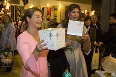 26 November 2016 - Maria Teresa and Princess Stéphanie visit Luxembourg International Bazar