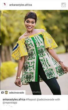 African Blouses, African Tops, African Wear, African Attire, African Women, African Dress, African Print Fashion, Africa Fashion, African Fashion Dresses