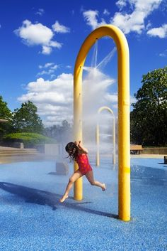 All the water hijinks of summer, no pool pass needed. The interactive fountain action of giant splash pads might take you by surprise, but it's no secret why they are so popular.