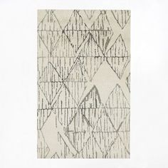 Etched rug // West Elm
