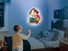 Jake from Jake and  the Neverland Pirates is a talking night light from Uncle Milton toys. Other characters include Doc McStuffins, Cinderella, Mickey Mouse and Minnie Mouse.