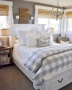 15 Amazing Farmhouse Master Bedroom Design Ideas for Your Sleep Comfort – Home and Apartment Ideas Farmhouse Master Bedroom, Master Bedroom Design, Bedroom Designs, Bedroom Country, Country Decor, Master Suite, White Bedroom Furniture, Home Decor Bedroom, Bedroom Ideas