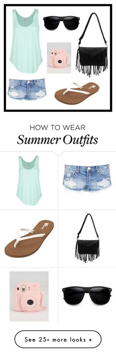 """""""An odd summer outfit"""" by duckylovesshop on Polyvore featuring One Teaspoon, Rip Curl and Volcom"""